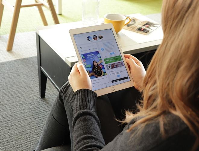 Steeple sur une tablette