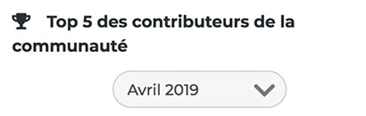 Top 5 des contributeurs Steeple