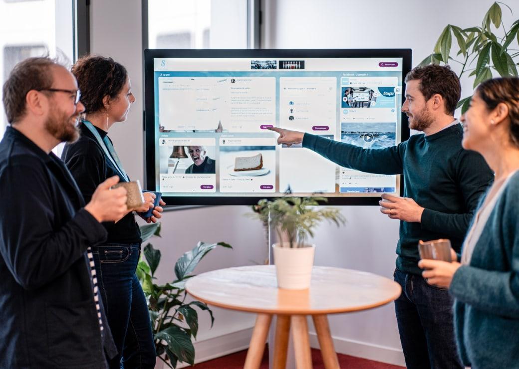 Tablón de anuncios digital empresa