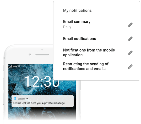 Notifications notify without disturbing