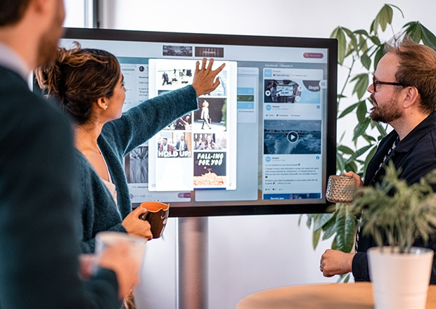 A touch screen monitor to get interacting on your break