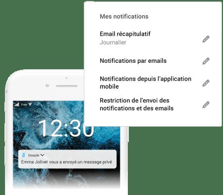 notifications steeple